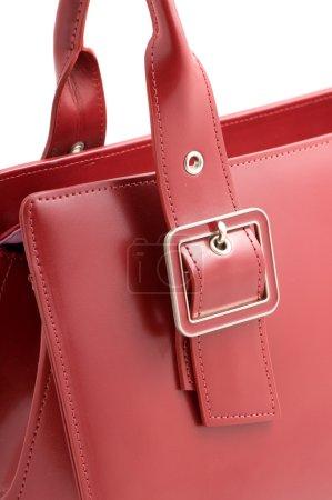 Red ladies handbag detail