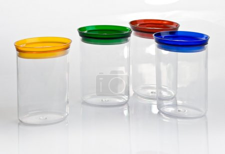 Kitchen utensils jars for food