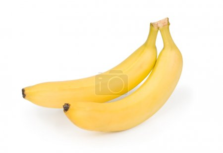 Photo for Two ripe banana on white background - Royalty Free Image