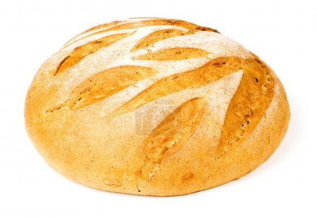 Photo for Loaf of bread on a white background - Royalty Free Image