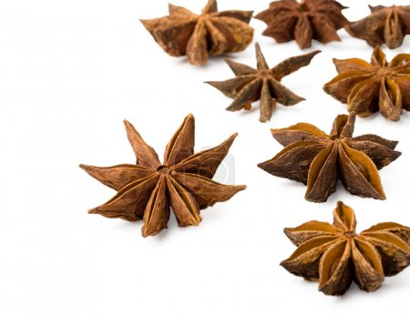 Star anise on a white background