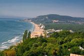 Panorámás kilátás nyílik az öbölre, Bulgária