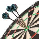 Dart board ant three arrows...