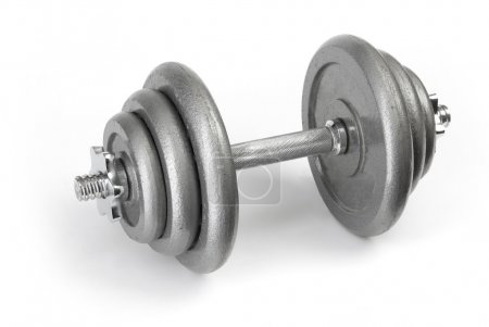 Photo for Barbell. Close up of body building equipment on white background - Royalty Free Image
