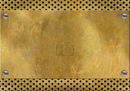 métal laiton jaune