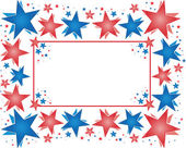 Frame of patriotic vector stars