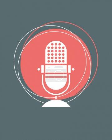 Retro microphone n