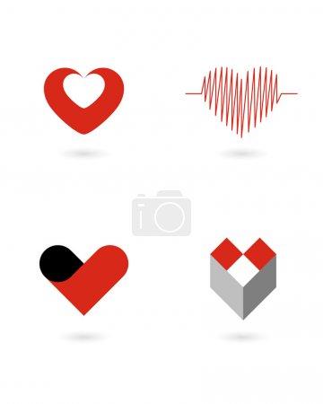 Vector hearts 1...