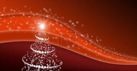 abstraktní vánoční strom