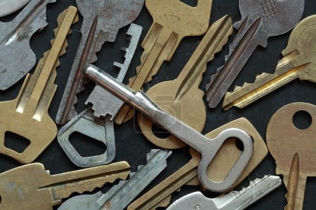 Photo for Background made from various keys - Royalty Free Image
