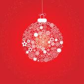 Christmas snowflakes white red