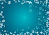 Blue snowflakes curls