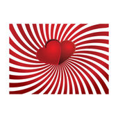 Valentine card with hearts on top vector illustration