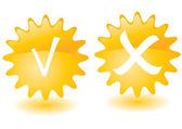 Yellow sun buttons