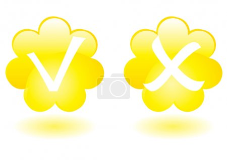 Yellow flowers buttons