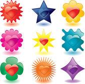 Plastic love buttons