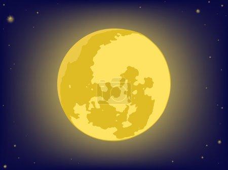 Illustration pour Lune sur ciel nocturne. milieux vectoriels - image libre de droit