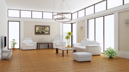 Photo pour Intérieur moderne d'une chambre (rendu 3d) - image libre de droit