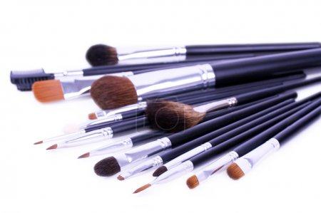 A lot of brushes for make-up artist