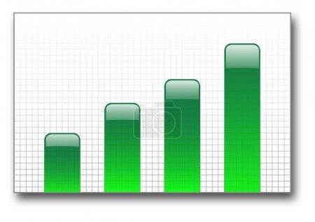 Green bar graph up