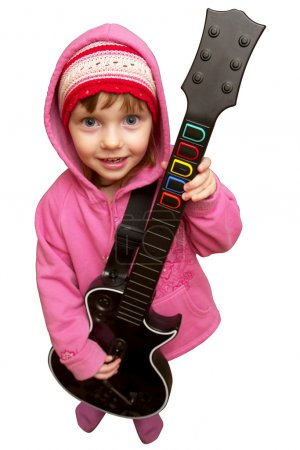 Little rocker girl (clipping path isolat