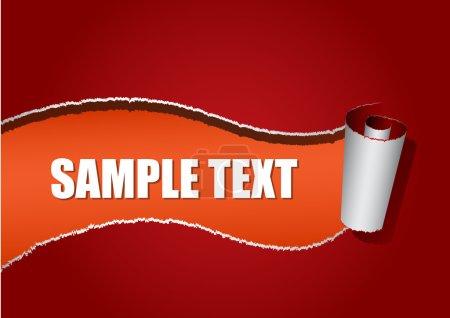 Illustration for Tear off paper template background (vector illustration) - Royalty Free Image