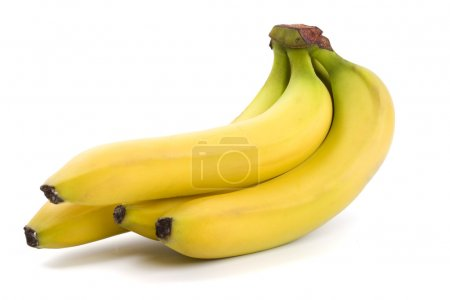 Photo for Bananas bunch isolated on white background - Royalty Free Image