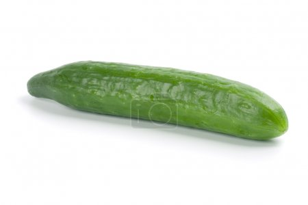 Photo for Green cucumber isolated on white background - Royalty Free Image