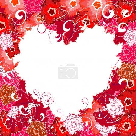 Illustration for Floral valentine - Royalty Free Image