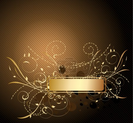 Illustration for Gold pattern - Royalty Free Image