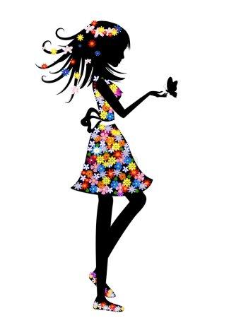 Illustration pour Couleurs de robe - image libre de droit