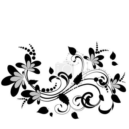 Illustration for Floral decoration - Royalty Free Image