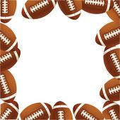 Rugby footballs of ballsVector illustr