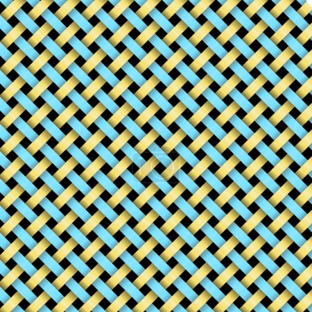Weaving of blue and brown tapes .Vector