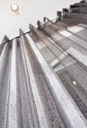 Gray metallic Curtain