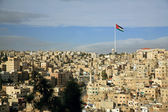 Amman city view with a flag, Jordan