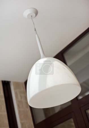 Photo for Modern white lamp shade - Royalty Free Image