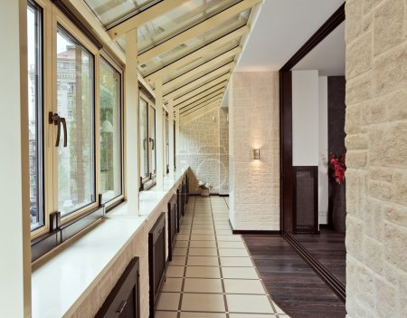 Long balcony (gallery) interior