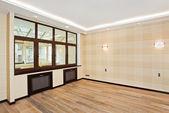 Empty living room interior with window