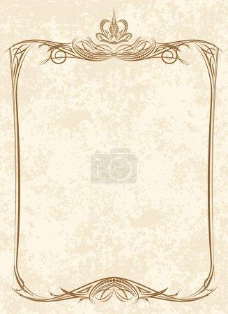 Vintage frame with crown.