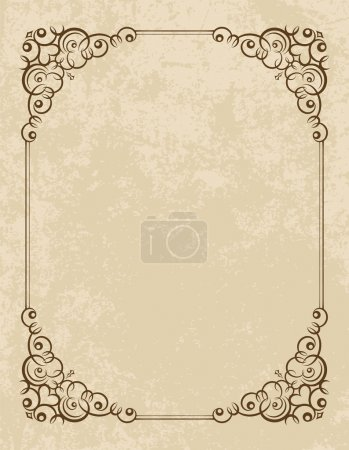 Illustration for Vintage vector background. - Royalty Free Image