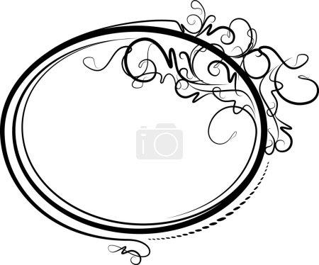 Illustration for Elegant oval frame - Royalty Free Image