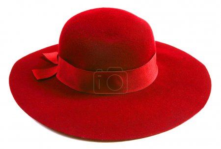 Photo for Luxury women red hat - Royalty Free Image
