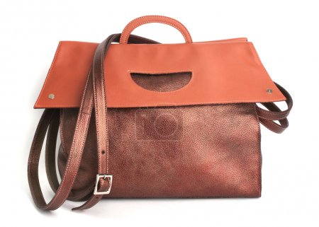 Luxury Leather Light Brown Handbag