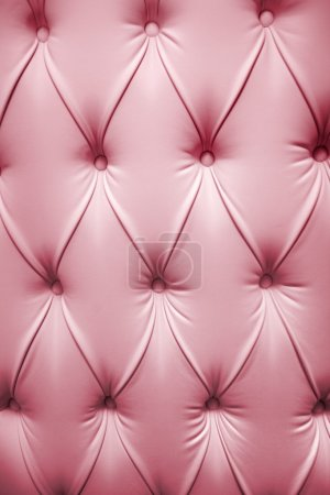 Photo for Pink picture of genuine leather upholstery - Royalty Free Image