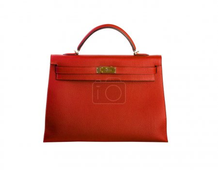 Photo for Red leather bag - Royalty Free Image