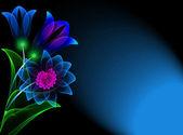 Transparentní květiny