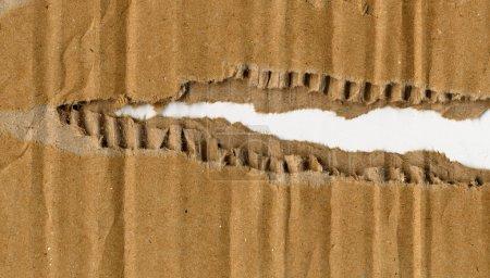 Photo pour Carton ondulé fin détail fermer le fond - image libre de droit