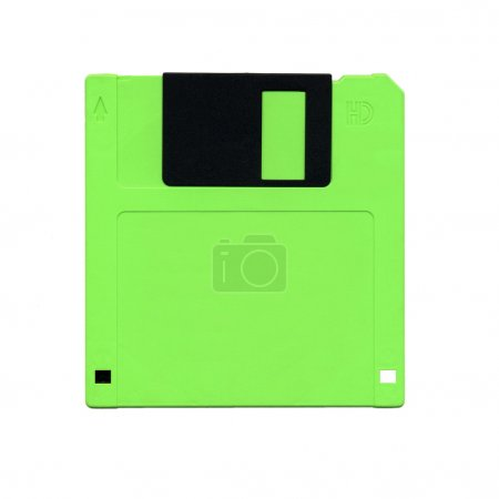 Fine isolated image of vintage floppy disk...