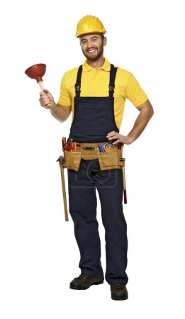 Plumber ready for work